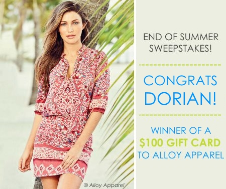 Alloy Apparel End of Summer Sweepstakes