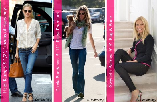 These celebrities have their favorite tall women's jeans.