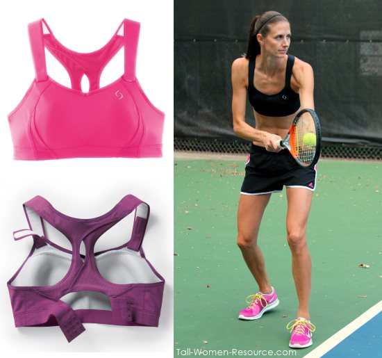 The Juno sports bra has adjustable straps for long torso women.