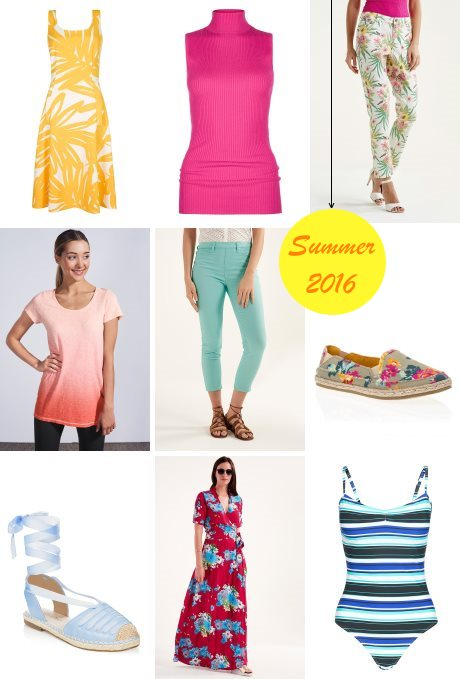 Colorful summer 2016 fashion trends for tall women.
