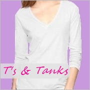 Tall t-shirts and tank tops