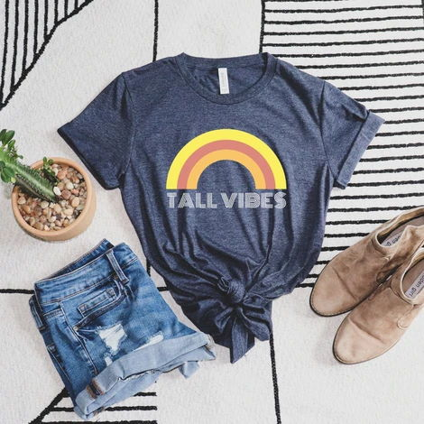 Tall Vibes Rainbow Graphic Tee from Tall Reali-tees