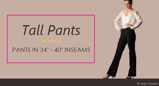 Tall Women Pants - Ladies Casual, Dress, & Active Pants In Long ...
