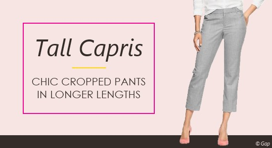 Tall Women's Capri Pants - Ladies Cropped Jeans & Pants in Long ...