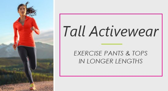 Exercise in women's tall activewear that fits your height.