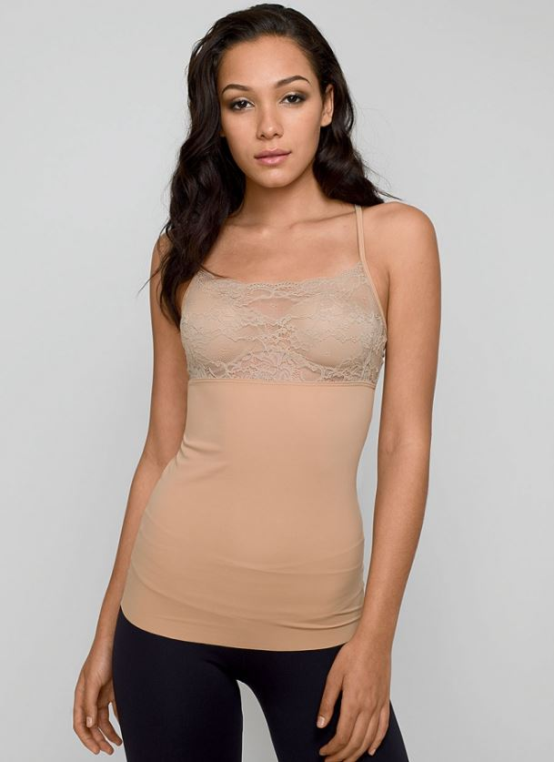 Alloy Apparel's Shape Lace Tank in Tall