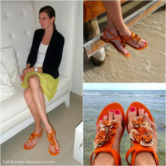 The B.F.T. by Barefoot Tess 'Holland' Sandal comes in 3 colors and up to size 15.  Wide widths are also available.