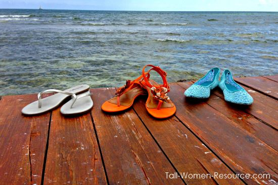 My review of casual women's shoes in large sizes from Barefoot Tess.