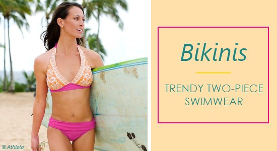 Bikinis are a swimwear choice for anyone, regardless of height. Shop for two-piece bathing suits from some of our favorite stores.