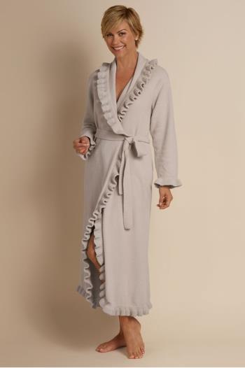 Ruffled Chenille Robe d0842b73e