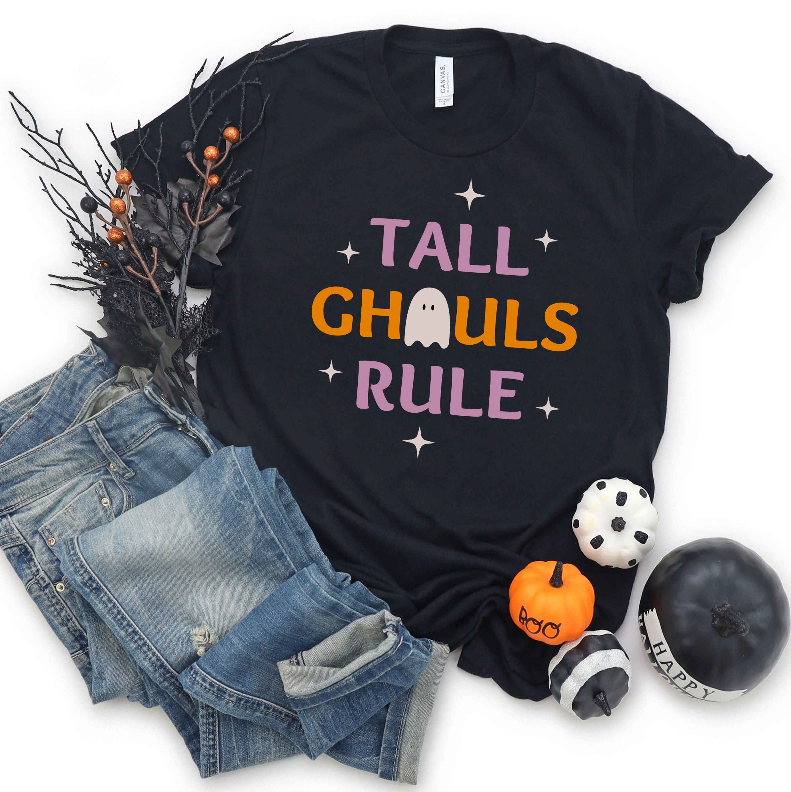 Tall Ghouls Rule unique graphic Halloween t-shirt from Tall Reali-tees