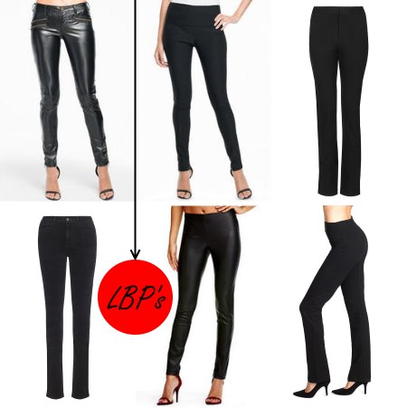 Tall options for little black pants.