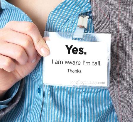 All tall women need this tag!